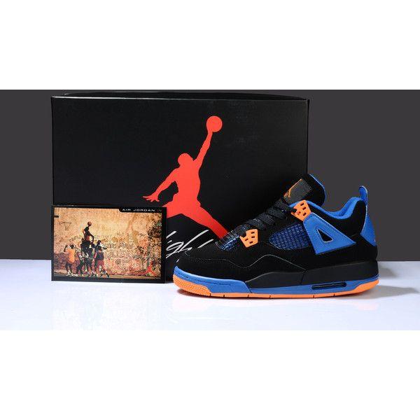 ab1301077107 ... promo code for womens nike jordan 4 retro sneakers black orange wj4 007  via polyvore 80925