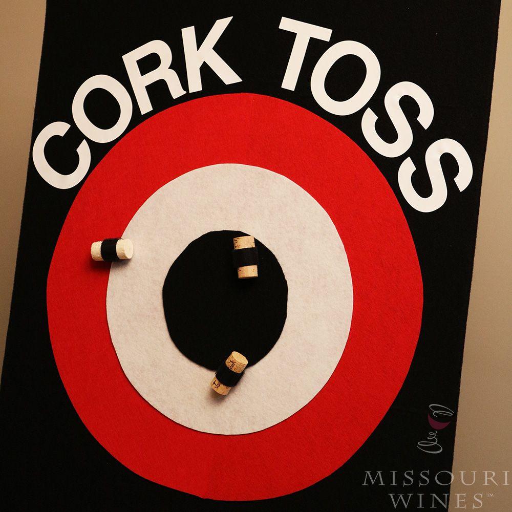 How To Diy Cork Toss Game Wine Games Wine Cork Crafts Wine Pull