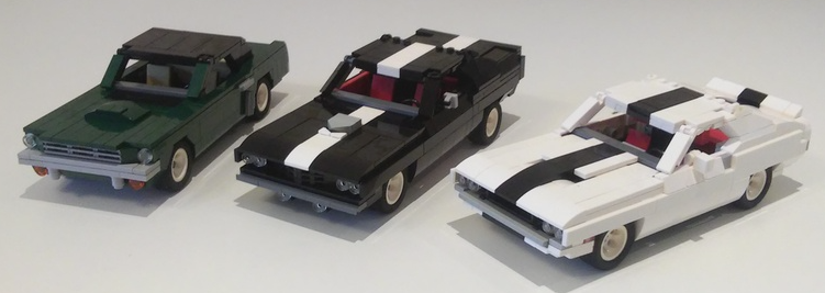 Lego Classic Muscle Cars Ford Mustang Dodge Challenger Plymouth