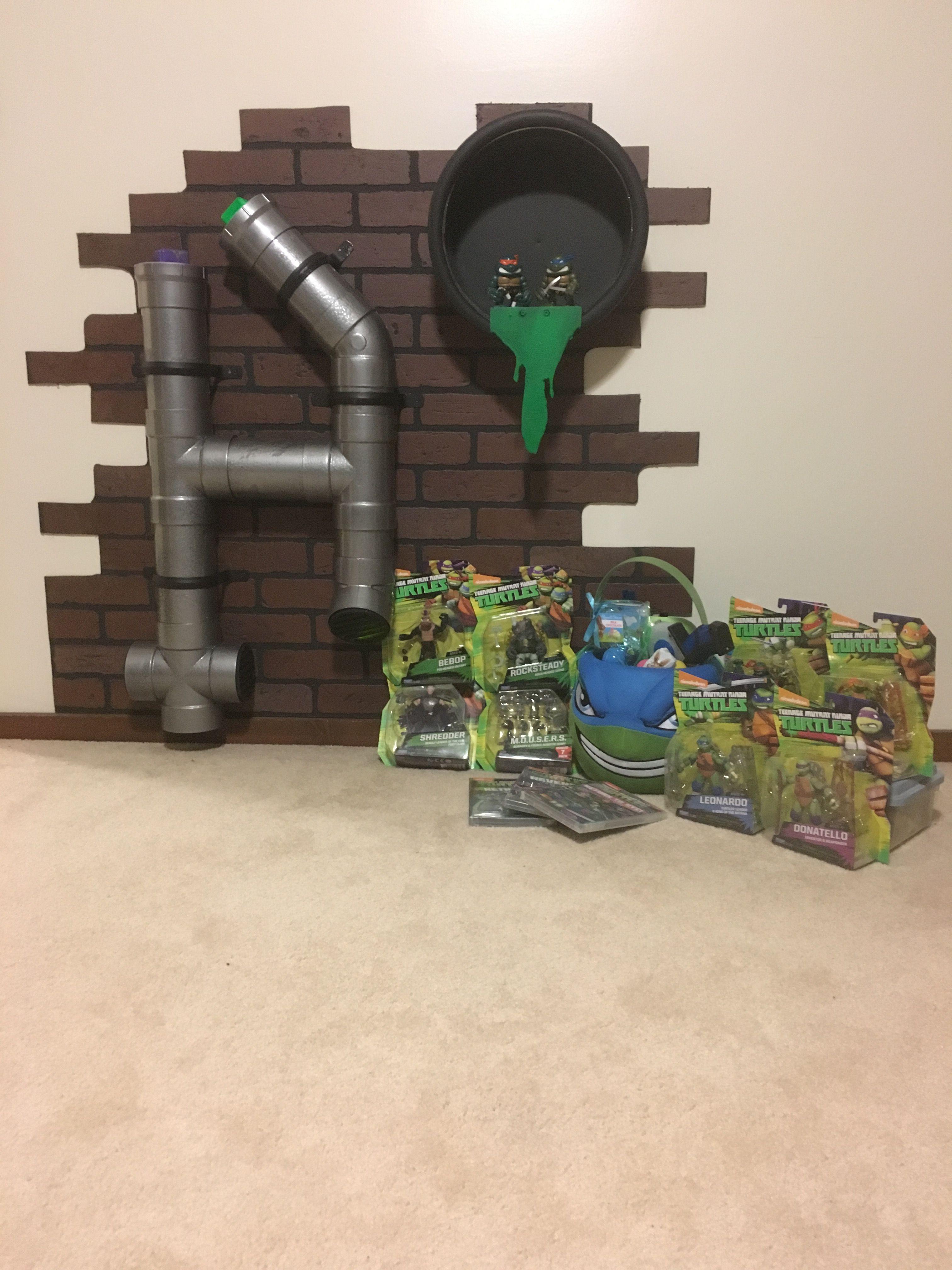 Diy teenage mutant ninja turtles room cumpleaños tortugas ninja