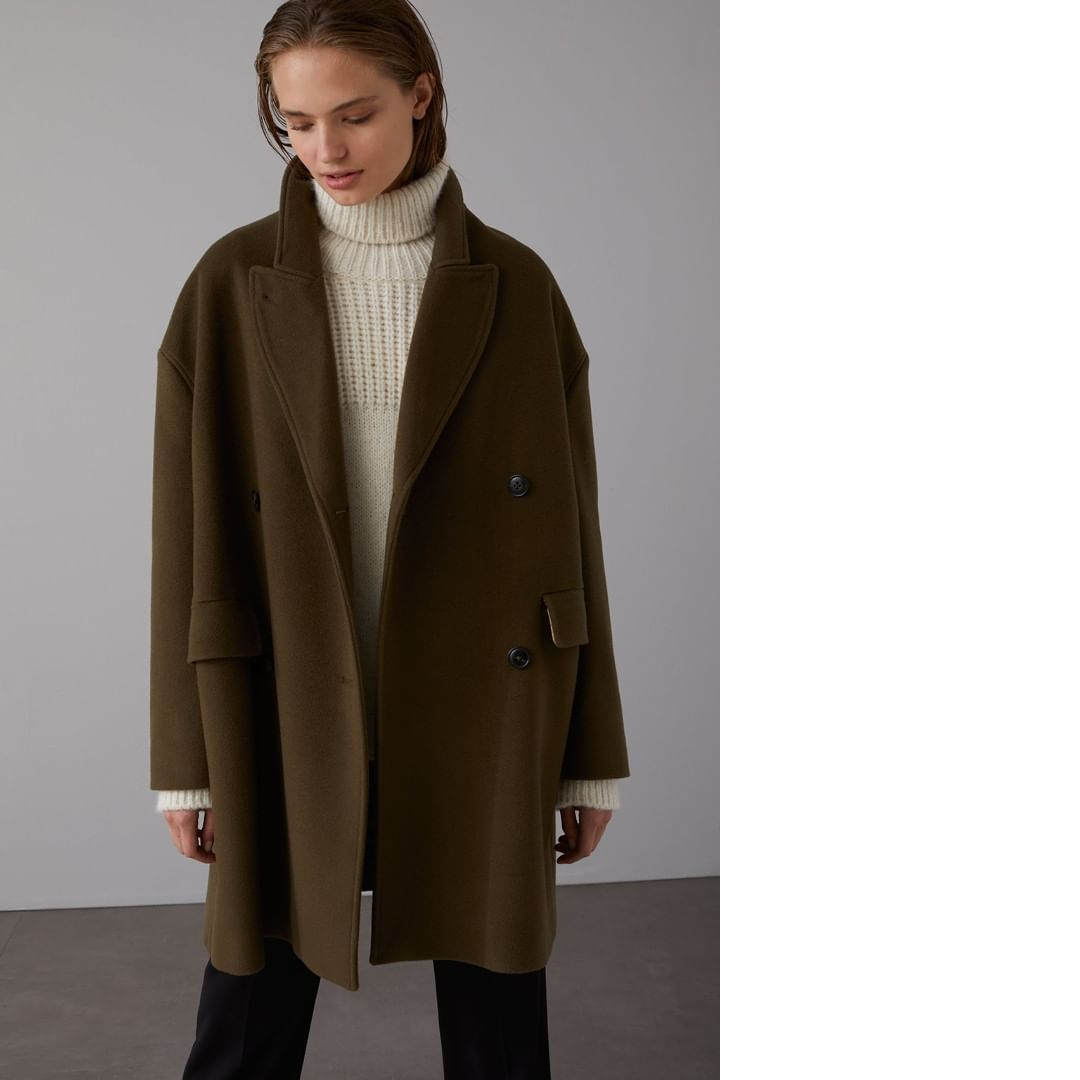 Closed Official On Instagram The Herby Coat 80 Wool For Warmth 20 Cashmere For Extra Softness And A Warm Khaki Tone That Goes 100 Pe In 2020