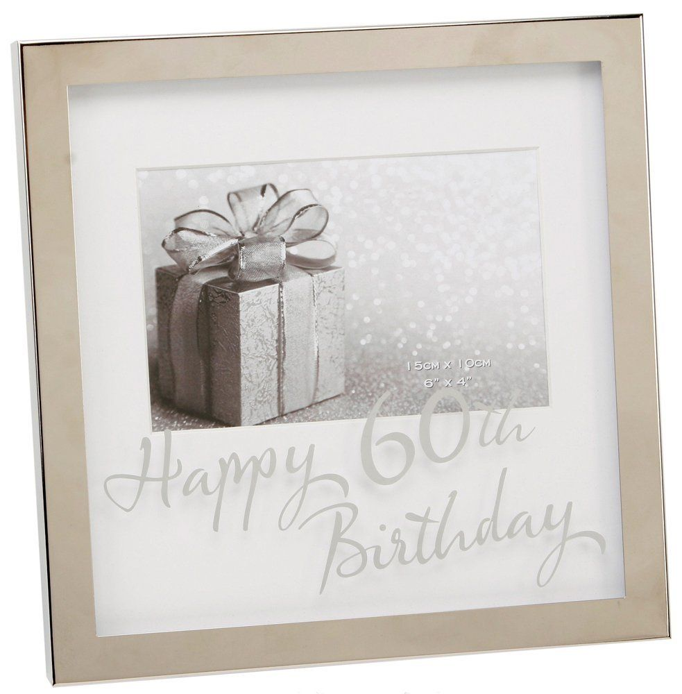 Contemporary silver mirrored happy 60th birthday 6 x 4 gift contemporary silver mirrored happy 60th birthday 6 x 4 gift photo frame jeuxipadfo Image collections