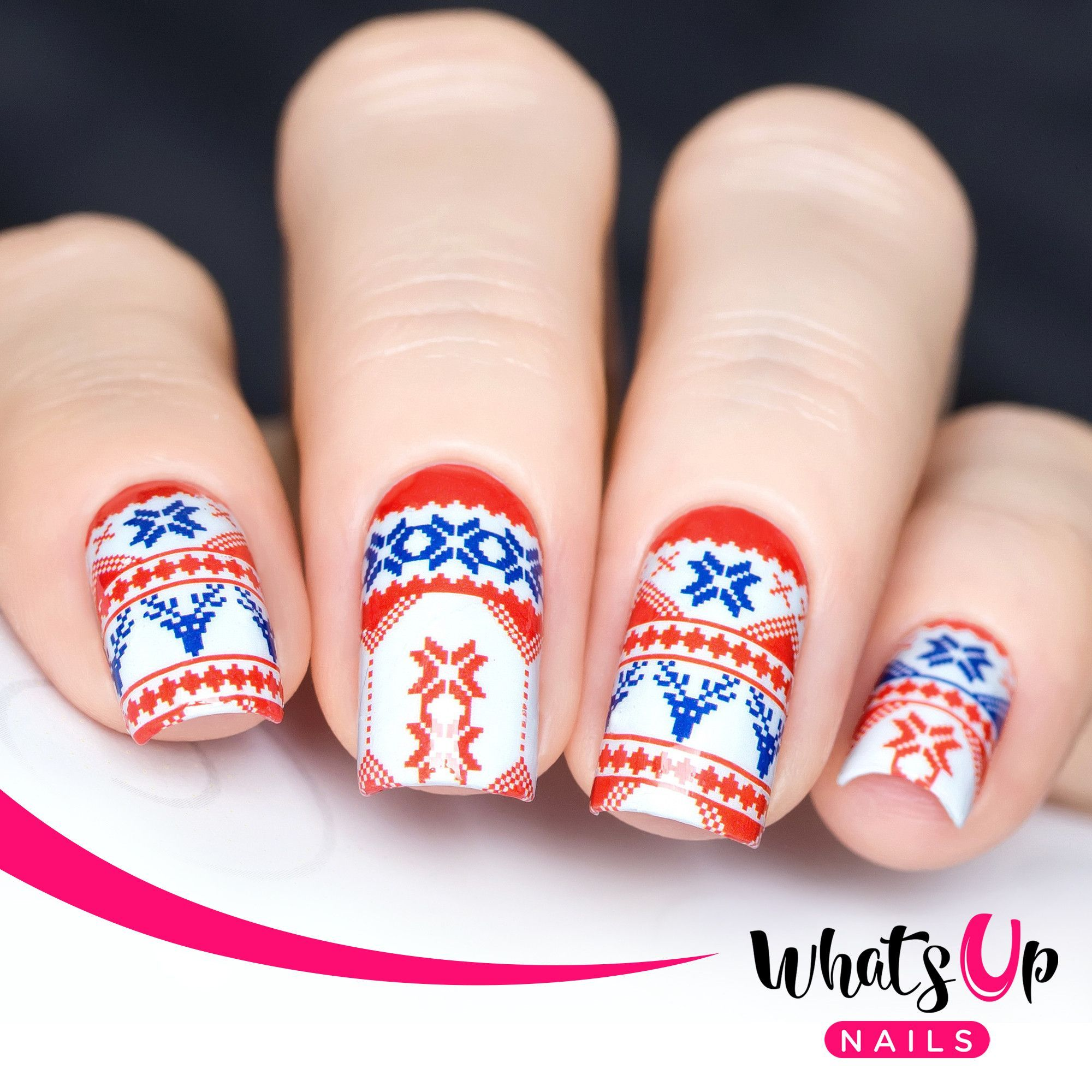 Whats Up Nails - P051 Sweater Is Better Water Decals