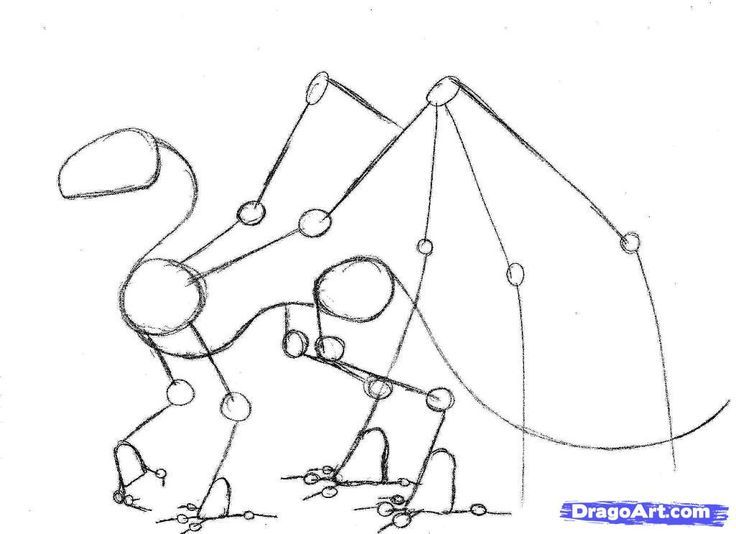 Photo of Steps to Draw a Dragon How to draw a kite, step by step, dragons, …