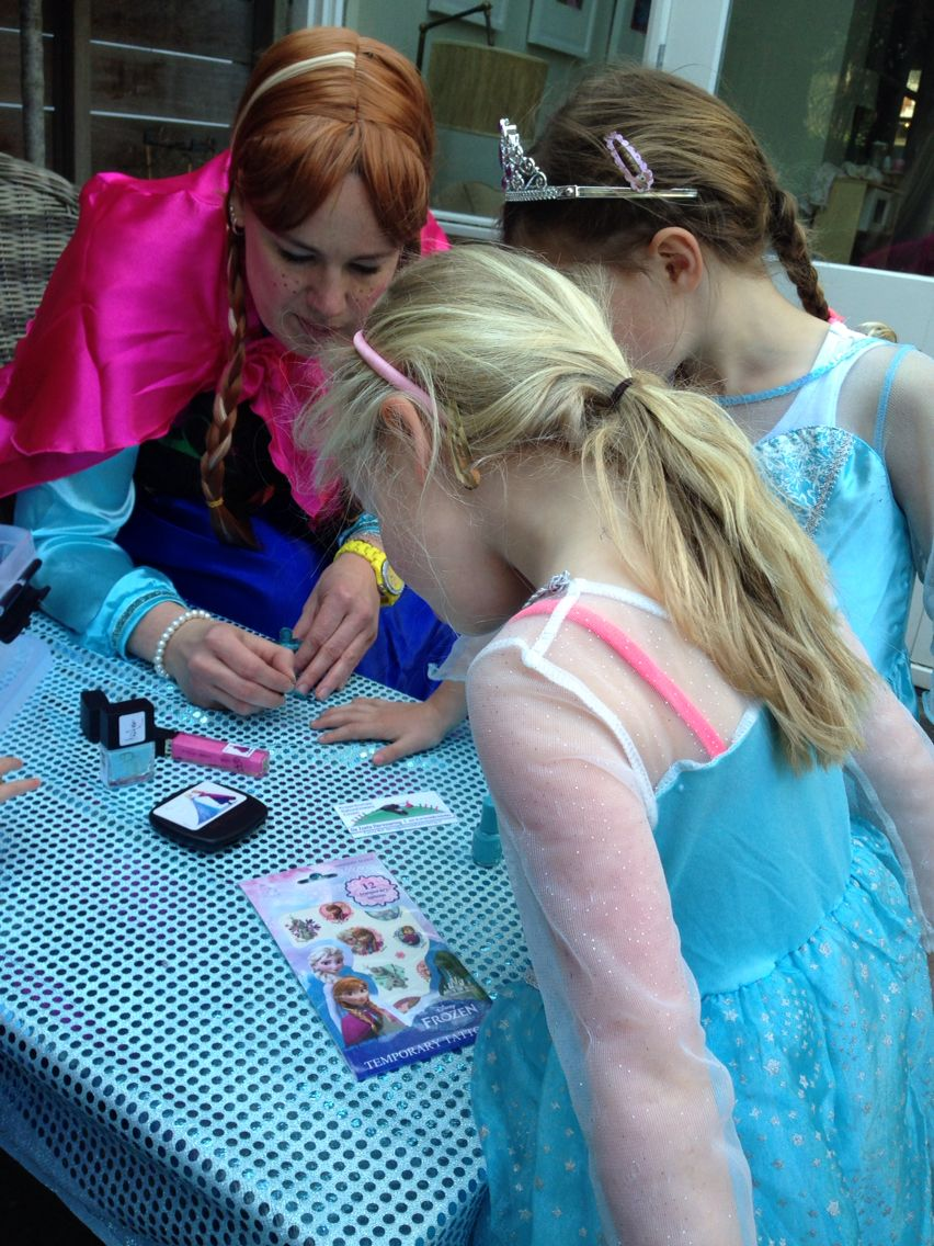 Frozen kinderfeest frozen party nagels lakken