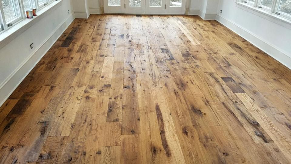 This Hand Scraped Red And White Oak Flooring Was Installed Over