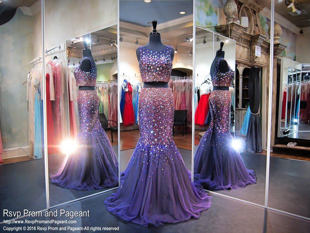 Purple two piece mermaid prom dress dresses u bags xo pinterest