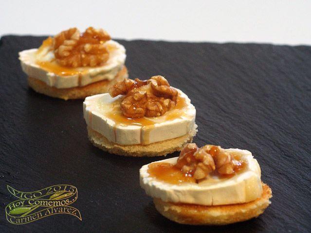 tapas de queso con nueces