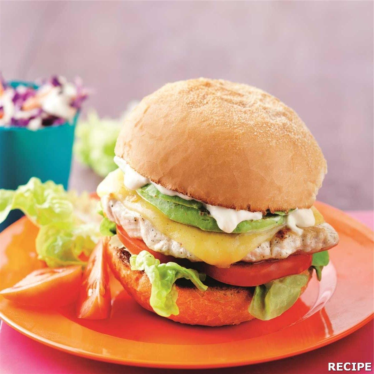 Chicken Schnitzel Burger Recipe Chicken Schnitzel Burger Chicken