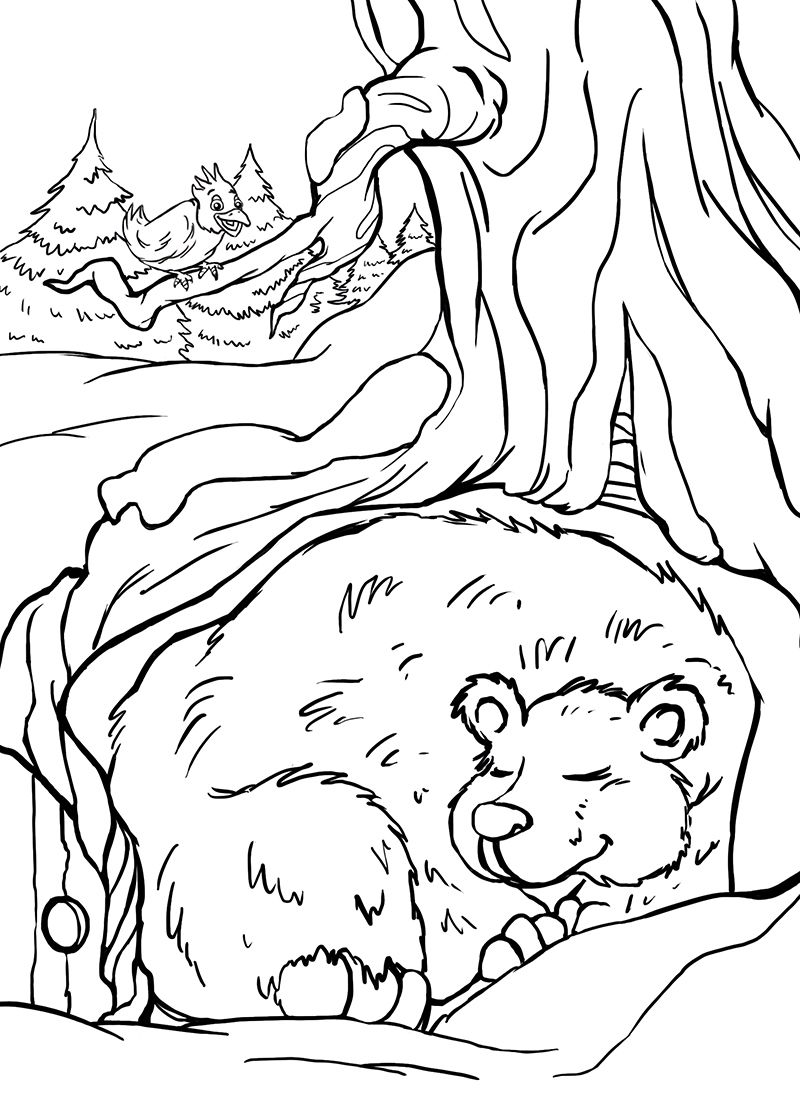 Winter Themed Coloring Book For Children