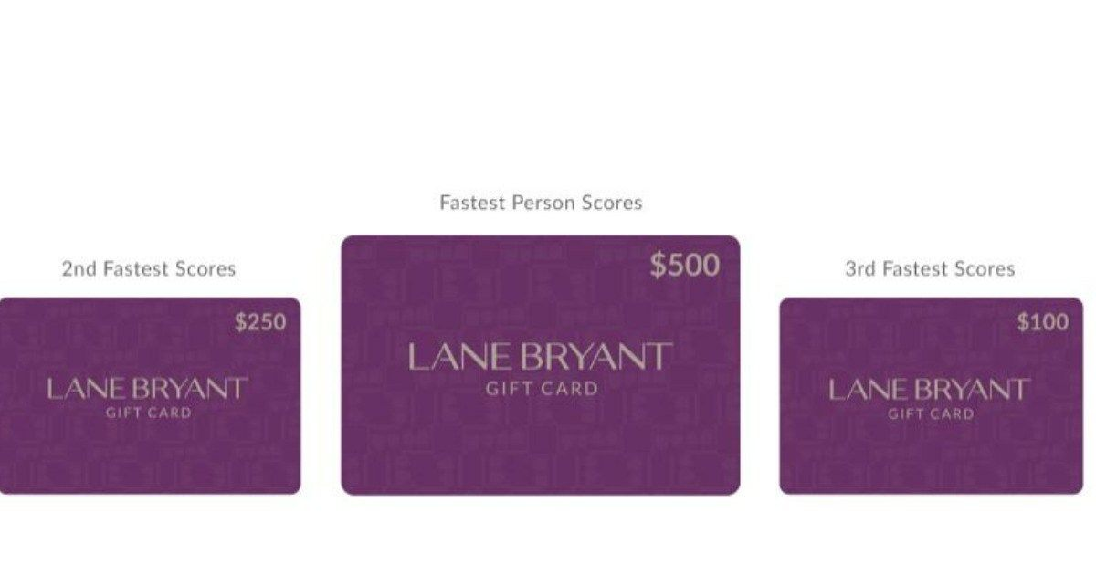 Lane bryant gift cards are up for grabs only the fastest
