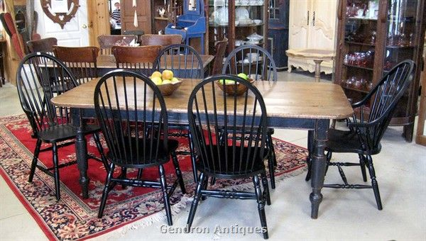 Attractive I Am Obsessed With Black Windsor Back Chairs. Need Some.