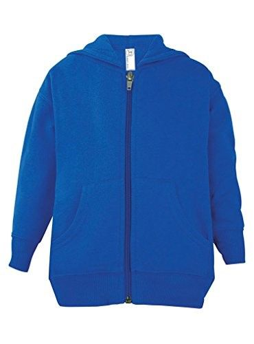 a8641bc2 Rabbit Skins Toddler Zip Fleece Blank Hoodie [Size 2T] Royal Blue Long  Sleeve Sweatshirt, Toddler Girl's