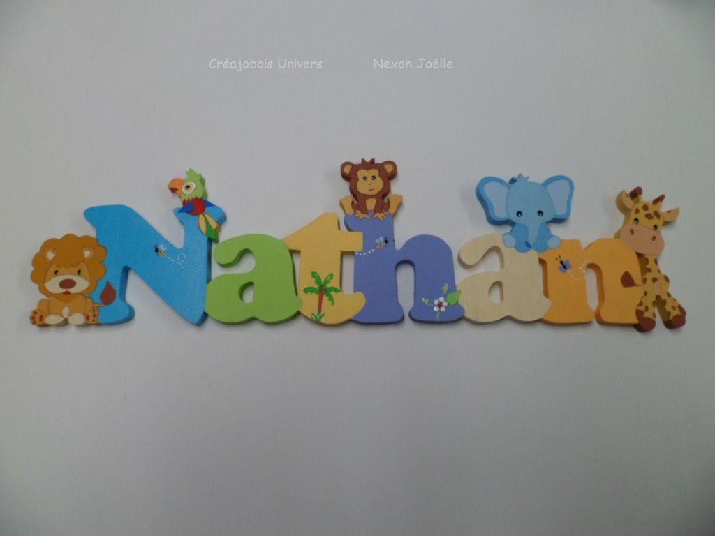Plaque De Porte Prénom Enfant En Bois Prénom Bois Personnalisée - Plaque de porte prénom