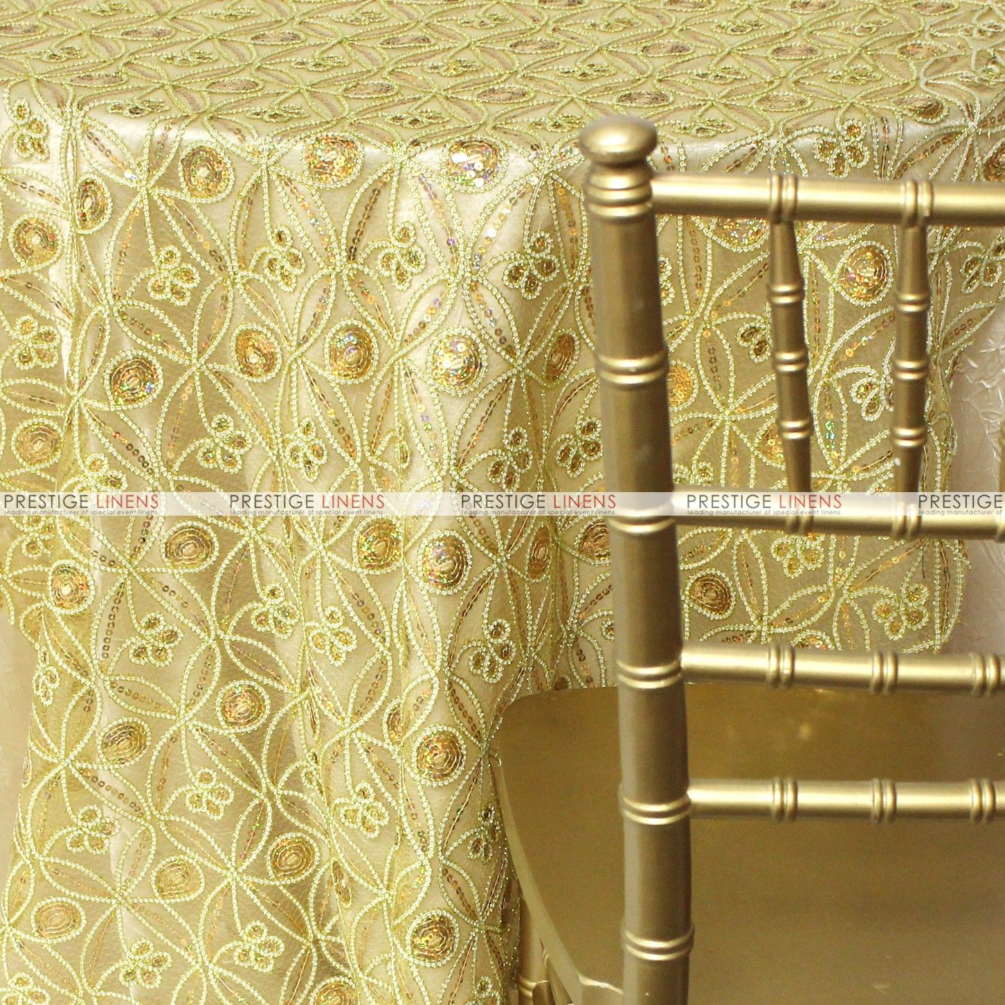 If you are a fan of our #CocoaPaisley fabric, you will adore this upgrade to Cocoa Star. With solid colors and matching #embroidery, this beautiful fabric comes in two #exclusive colors, shown here in Gold, and will shine at any event you have coming up. #wedding #Linens #Weddingdecor #colors #Fall #Weddingseason #prestigelinens