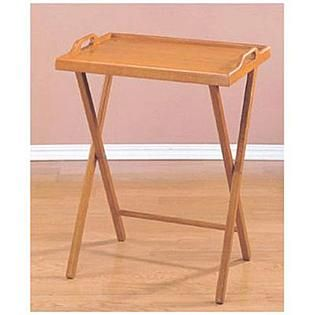 Kmart Essential Home Oak Finish Folding Tv Tray Table Folding Tv Trays Tv Tray Table Tray Table