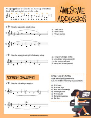 FREE PDF DOWNLOAD: Vocal Warm-Ups for Kids- Awesome Arpeggios  Turn