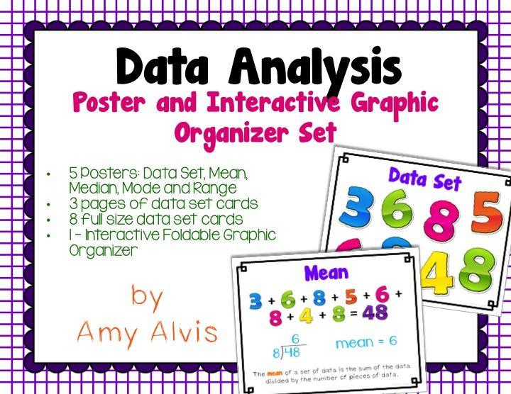 Data Analysis Posters and Graphic Organizer INB Set Graphic - data analysis