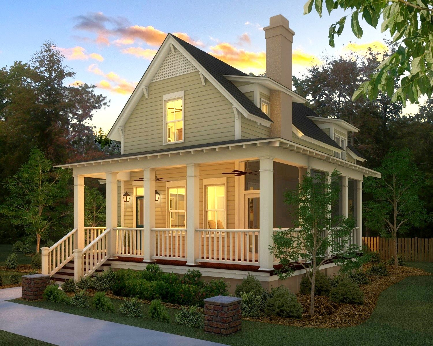 So cute and this angle makes it look way smaller than it for Farmhouse cottage house plans