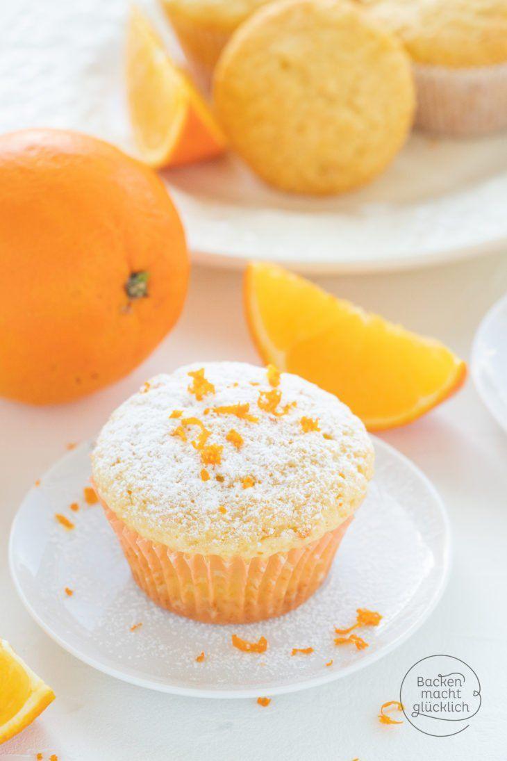 Schnelle, fluffige Orangenmuffins | Backen macht glücklich #tortegeburtstag