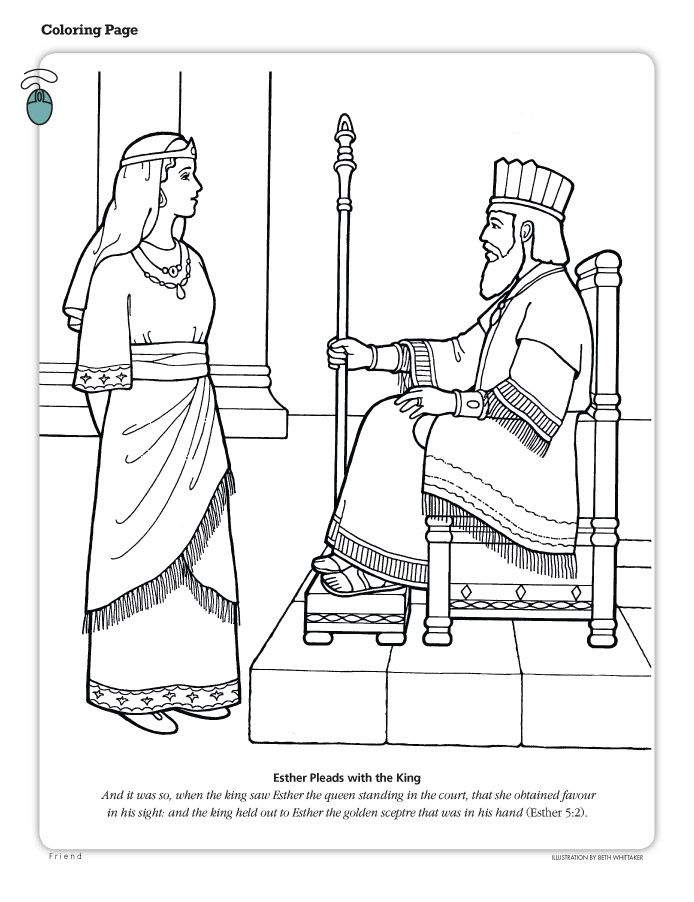 Esther Coloring Bible Coloring Pages Bible Coloring Bible Crafts