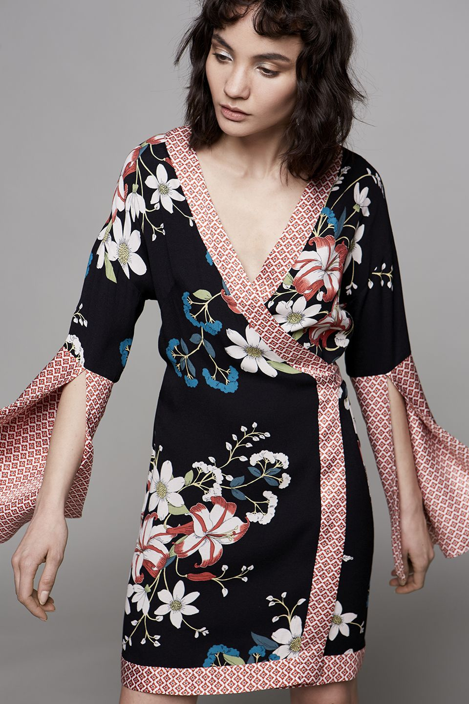 13120207fd  Sisley  Sisleyfashion  SS2017  woman  collection  fashion  trend  flowers   kimono
