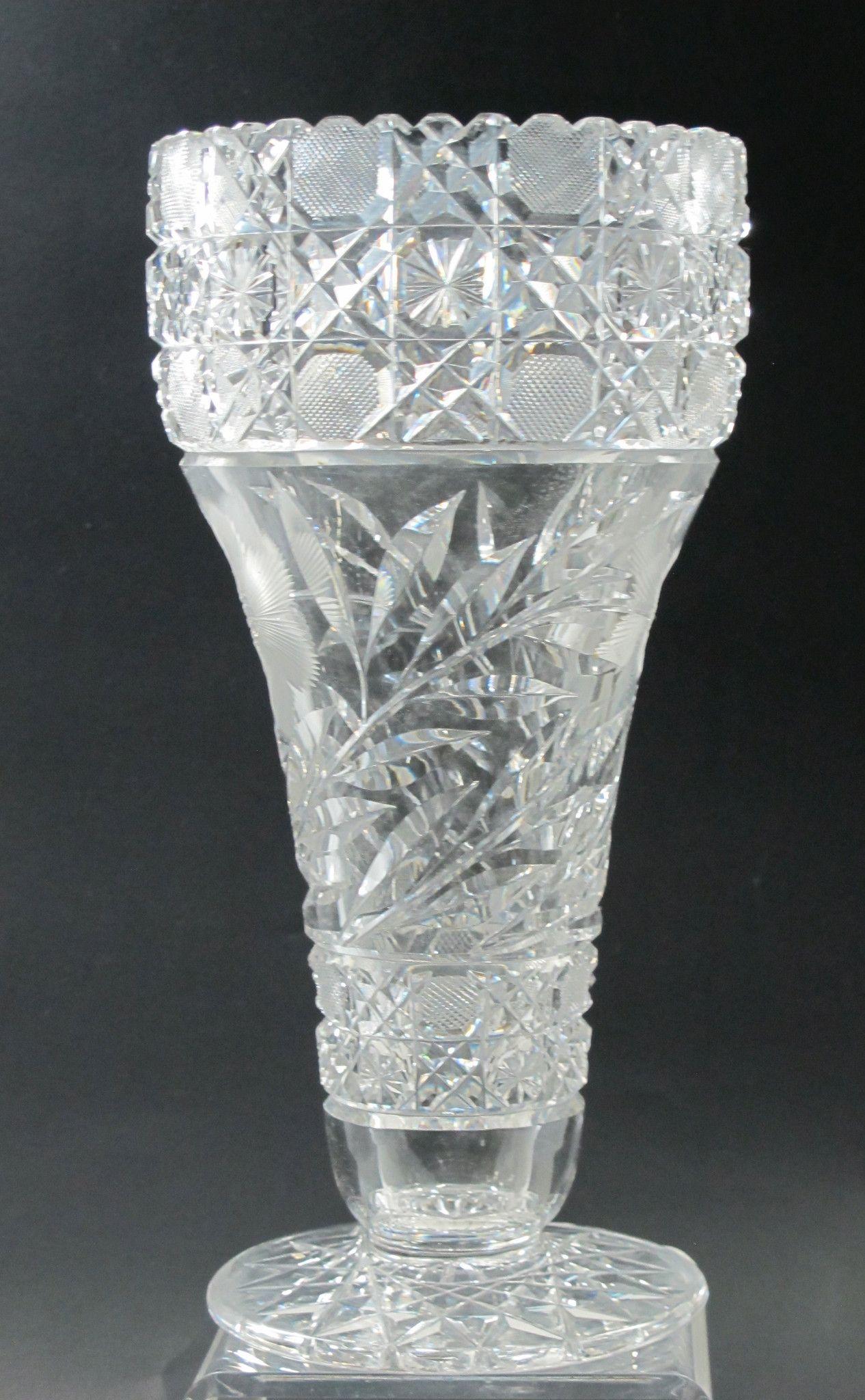 American brilliant floral period cut glass vase antique cut american brilliant floral period cut glass vase antique reviewsmspy