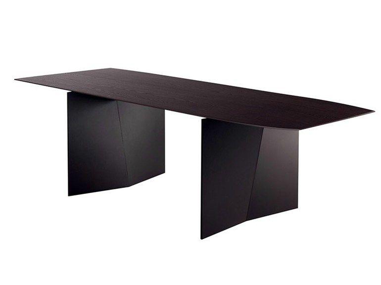 Rectangular ash table PALIO by Poltrona Frau | design Ludovica