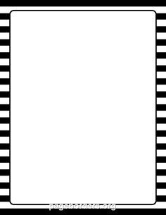 Printable Black And White Striped Border Use The Border In