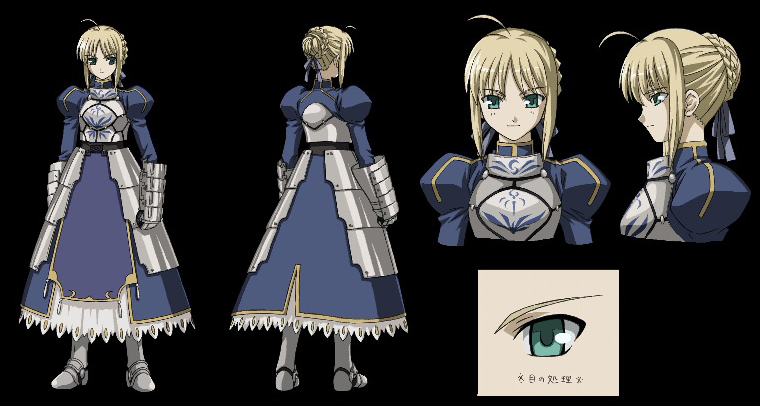 Saber (Fate/stay night) Type moon, Fate stay night and