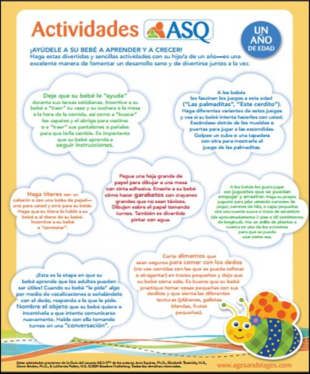 photo about Spanish for Preschoolers Free Printable called ASQ-3 actividades de los padres ASQ Ideas Insider secrets