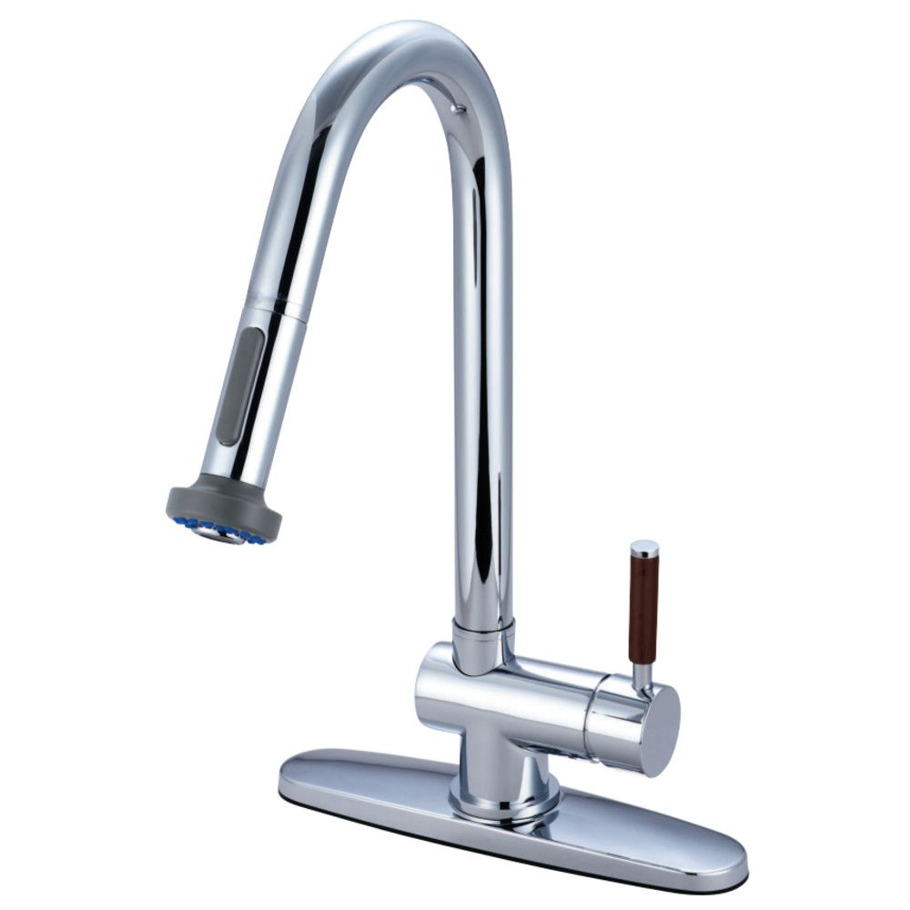 Gourmetier gsdwl wilshire single handle pulldown spray kitchen