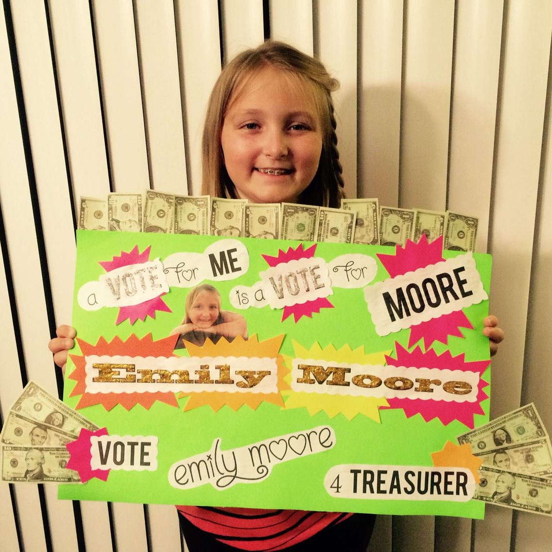 Student Council Treasurer Poster Student council posters