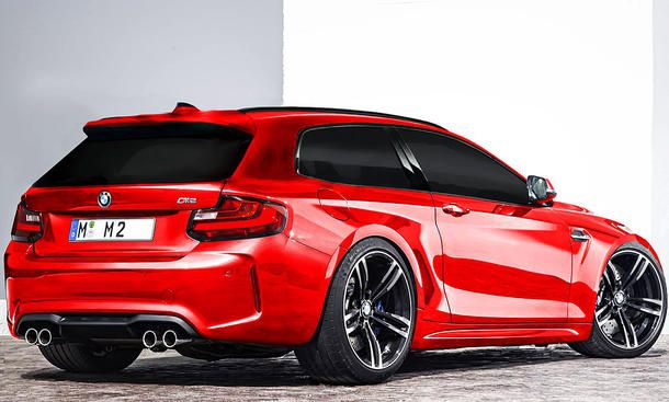 bmw m2 shooting brake illustration cars and bikes. Black Bedroom Furniture Sets. Home Design Ideas