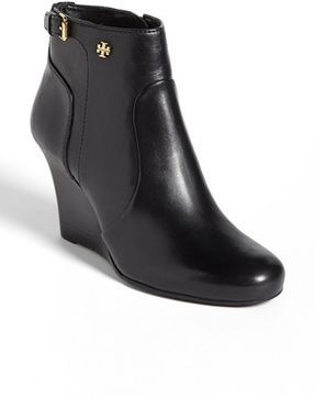 100952483724 Tory Burch  Milan  Wedge Bootie Womens Black Leather Size 5.5 M 5.5 M on  shopstyle.com