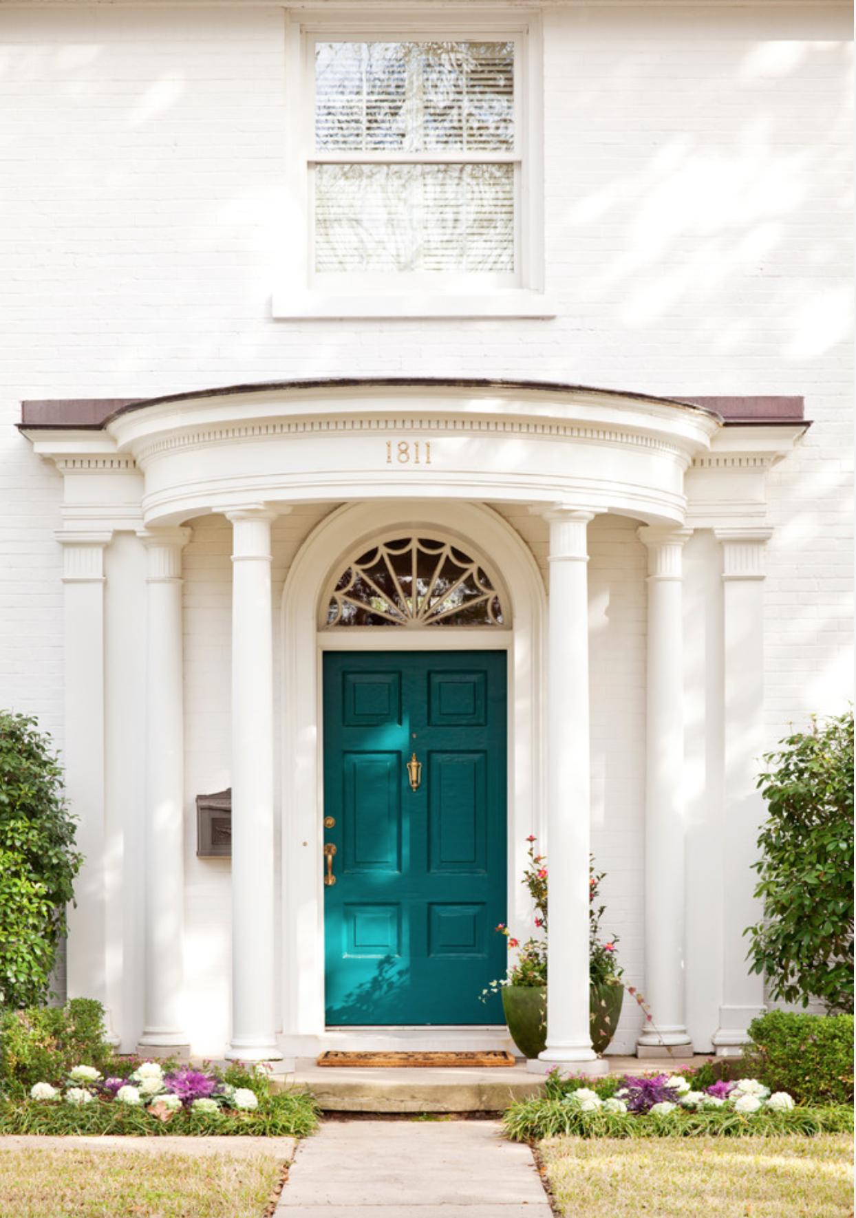 Sw Blue Peacock Front Door Home Paint Colors