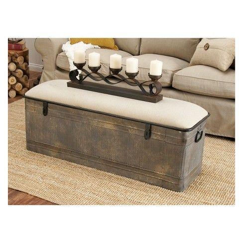 Super Wood Farmhouse Storage Bench Gray Olivia May Home Machost Co Dining Chair Design Ideas Machostcouk