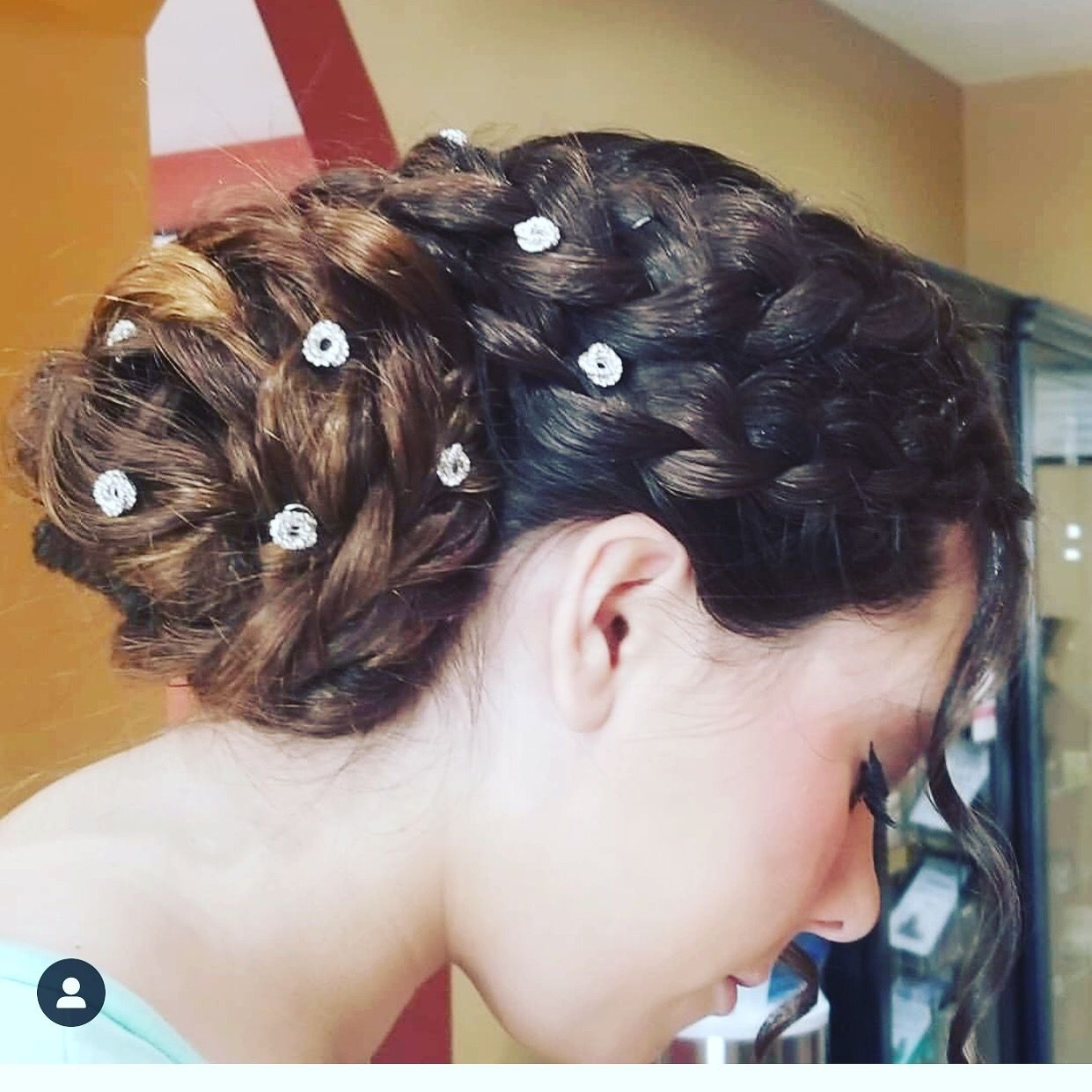 Prom updo for thick long hair | Hair styles, Long hair ...