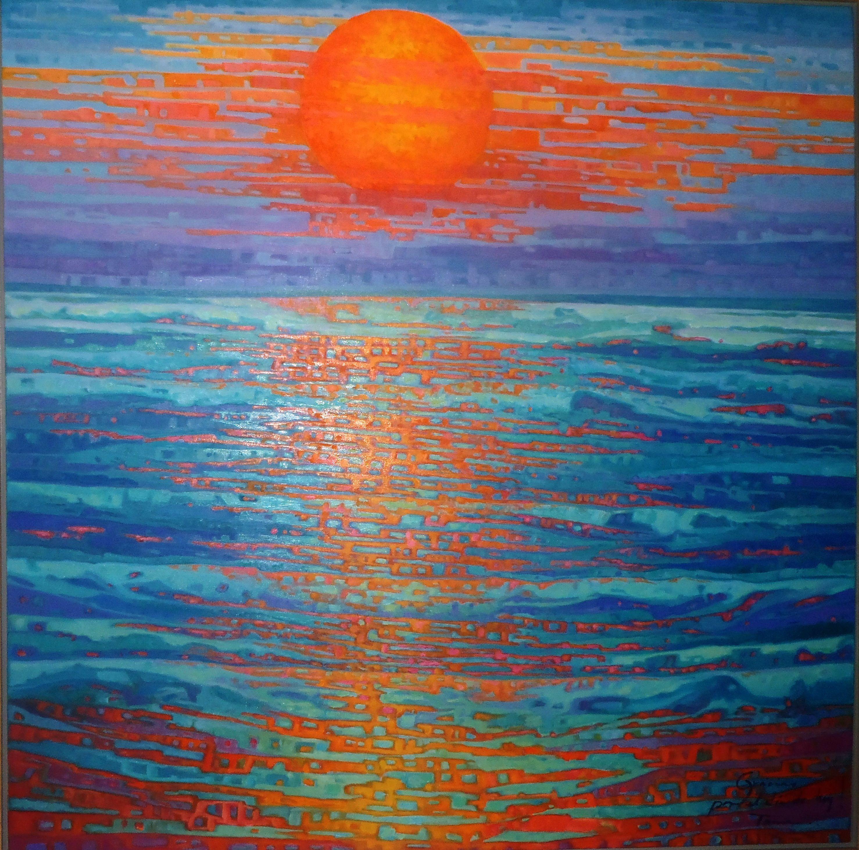 ART. TANIA CAMARA. GRACIAS POR EL DIA DE HOY. 2015. OLEO SOBRE TELA. 1.50 X 1.50 MTRS.2014