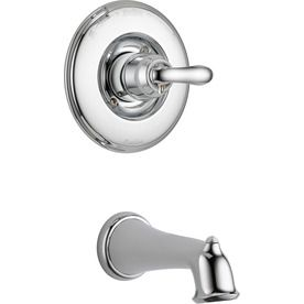 Delta Linden Chrome 1 Handle Shower Faucet Trim Kit With Sold