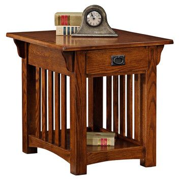 Office End Table - Leick Mission Impeccable End Table 23h x 22w x 25d