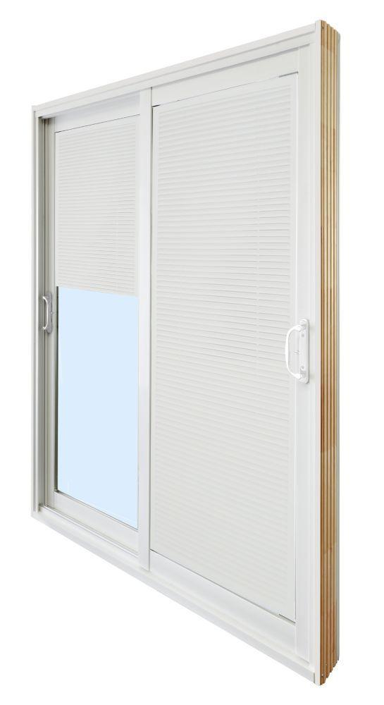 Double Sliding Patio Door Internal Mini Blinds 5 Ft 60 In