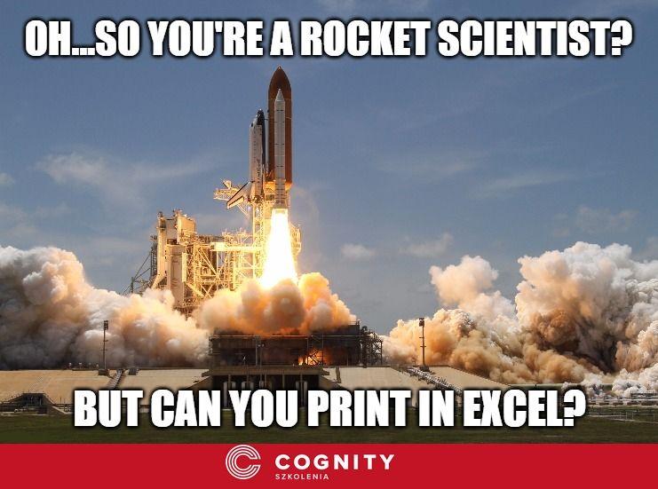 Geek #humour #Excel #Microsoft #meme #spreadsheet #joke #computer - printing excel spreadsheets