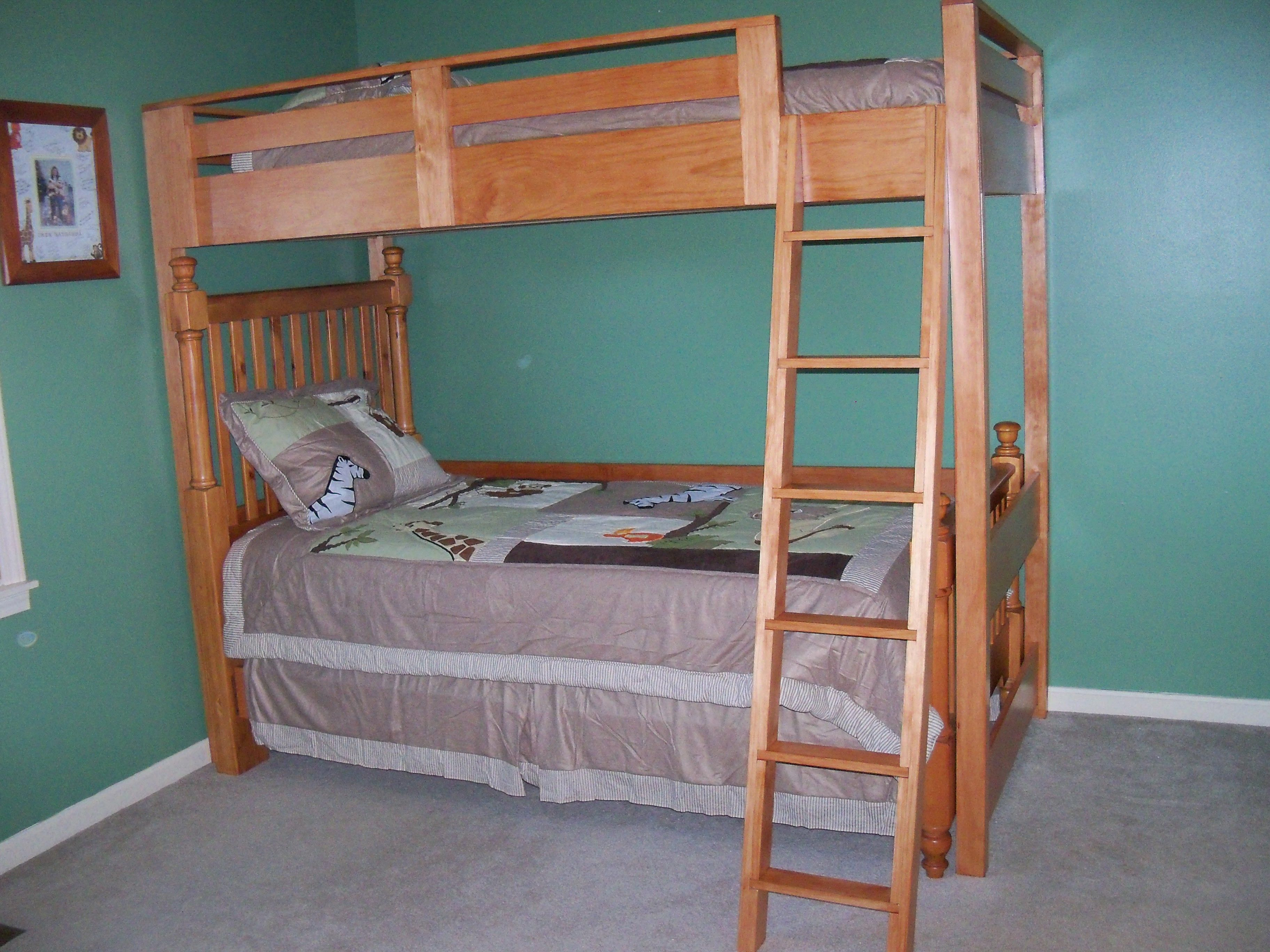 Loft bed with slide building plans  Turning the Loft Bed into a Bunk Bed  Do It Yourself Home Projects