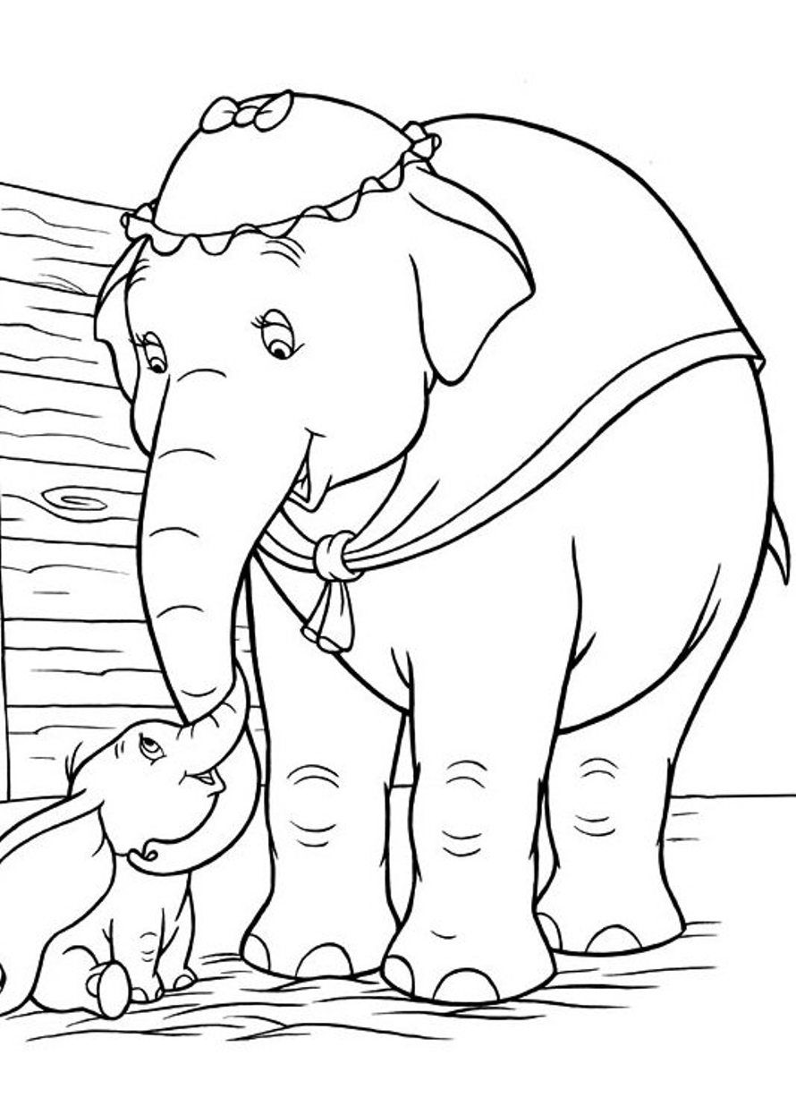 Dumbo Free Printable Cartoon Coloring Pages   Coloring--Back to our ...