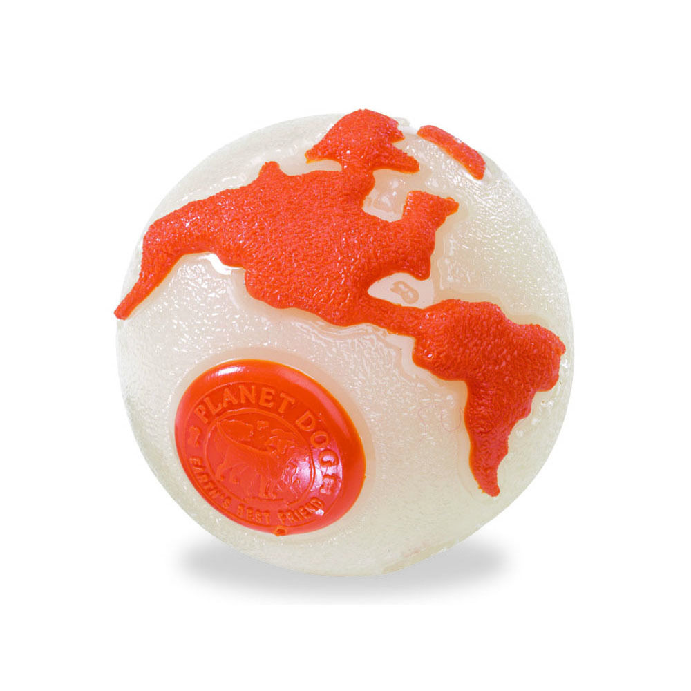 Dog Glow Orbee Ball with Treat Spot Durable dog