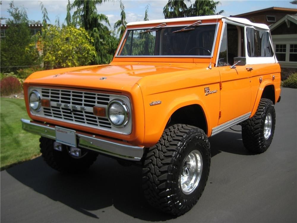Orange Classic Bronco Ford Bronco Bronco Classic Cars Trucks