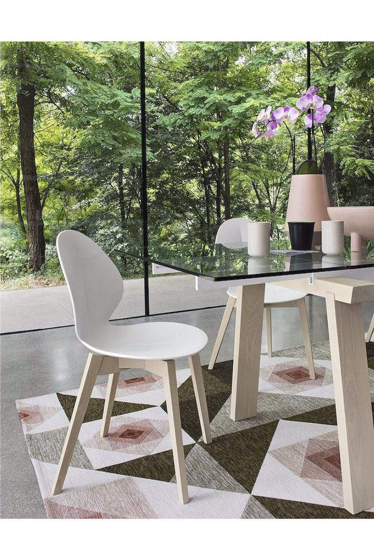 Basil W Chair By Mr Smith Studio For Calligaris Calligaris Contemporary Dining Chairs Wooden Dining Chairs