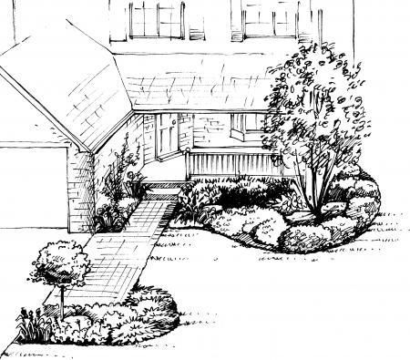 Front Yard Landscape Design A sample shopping list 2 - landscape - sample shopping list