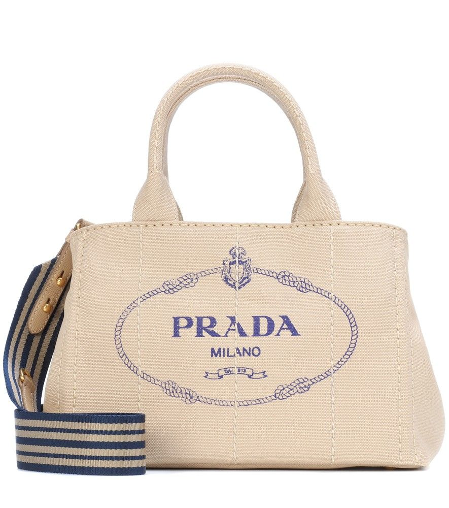 71aa7657bf5db7 Prada - Printed canvas tote - Lend your looks instant recognition with  Prada's printed canvas tote